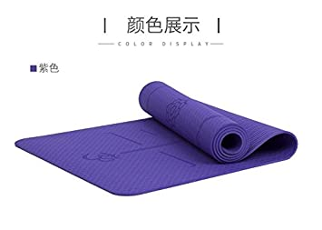 YOOMAT TPE Línea Corporal de la Estera del Yoga y Gimnasia ...