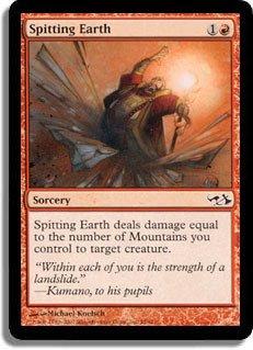 Magic: the Gathering - Spitting Earth - Duel Decks: Elves vs Goblins