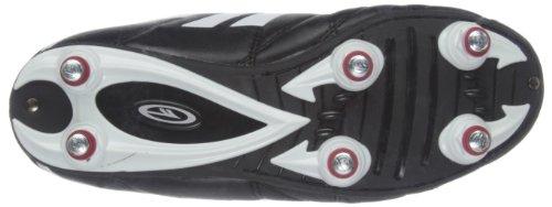 Hi-Tec League Pro Si Lace Jr - Zapatos de fútbol de material sintético infantil negro - Black/White/Red