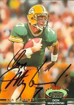 Don Majkowski autographed Football Card (Green Bay Packers) 1992 Topps Stadium Club #27