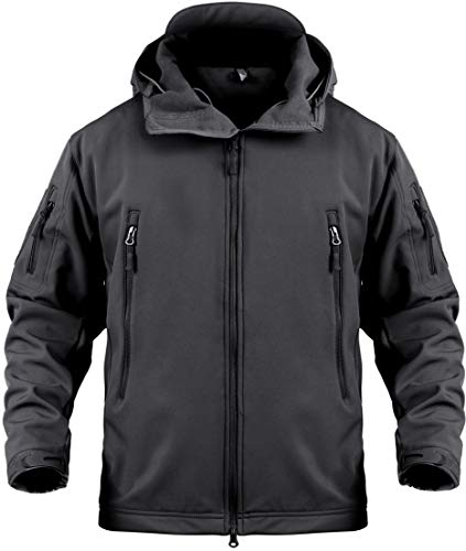Windproof Water Repellent - Tactical Jacket for Men Water Repellent Windproof Coat Big Tall Mens Fleece Lined Softshell Jackets