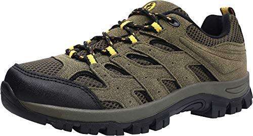 L-RUN Men's Shoes Walking Sneaker for Running Trekking Training Green 8 M US by L-RUN