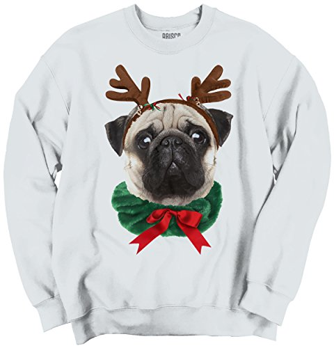 Funny Cute Pug Holiday Dog Santa Claus Puppy Ugly Christmas Sweatshirt (Christmas Jumper Decorations)