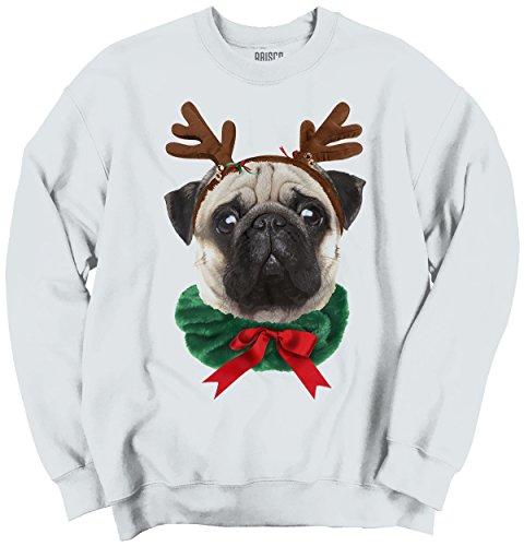 Funny Christmas Puppy - Classic Teaze Funny Cute Pug Holiday Dog Santa Claus Puppy Ugly Christmas Sweatshirt