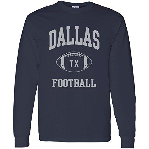 - Dallas Classic Football Arch American Football Team Long Sleeve T Shirt - Medium - Navy