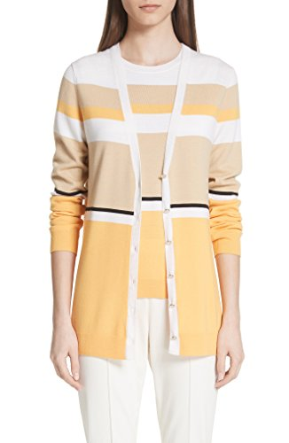 セント ジョン コレクション レディース カーディガン St. John Collection Stripe Jersey Knit C [並行輸入品]