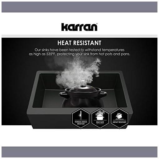 Farmhouse Kitchen Karran QA-760-WH Quartz Farmhouse Kitchen Sink, White farmhouse kitchen sinks