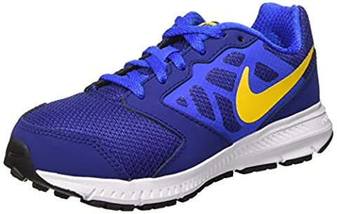NIKE Boy's Downshifter 6 (GS/PS) Athletic Shoe, deep royal blue/varsity maize, 6 M US Big Kid (Nike Lunar Force 1 Mid)