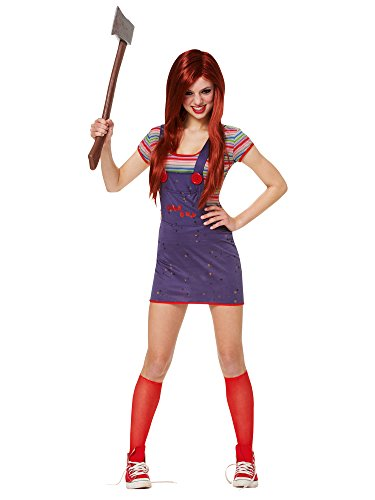 Costume Culture Women's Licensed Sassy Chucky Teen Costume, Blue, X-Small (Overall Teen Costumes)