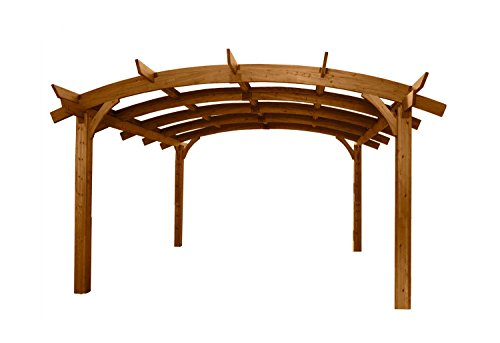 Sonoma 12 x 16 ft. Arched Wood Pergola - Redwood -  Outdoor Greatroom Company, SONOMA1216-R