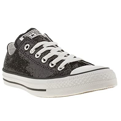 Converse all star ox v glitter 6 uk black man made for Converse all star amazon