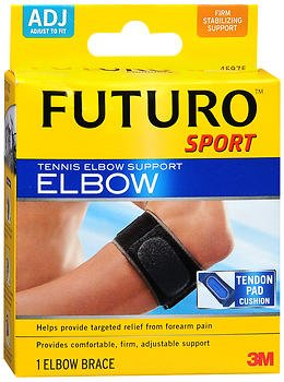 Elbow Support Sport Medicine (Futuro Futuro Sport Tennis Elbow Support Adjust To Fit, each (Pack of 2))