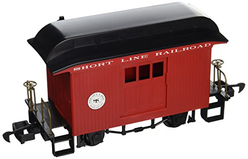 Bachmann Industries Li'L Big Haulers Baggage G-Scale Short Line Railroad with Red/Black Roof, Large from Bachmann Trains