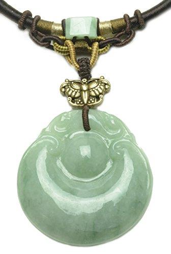 (Elegant Fortune Eternity Donut Green Jade Amulet Necklace - Fortune Fashion)