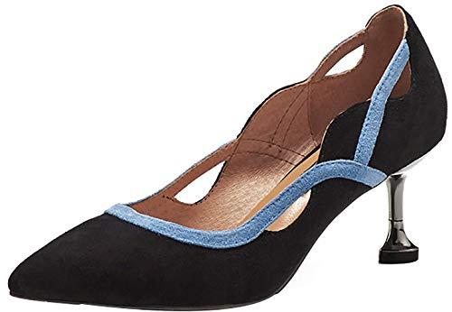 Mujer tac Qaicm 5CM Zapatos Puntiaguda Ponerse 6 Arraysa de Punta AzHvdpwAq