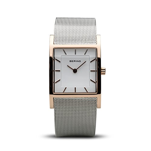 Classic Mesh Womens Watch - BERING Time 10426-066-S Womens Classic Collection Watch with Mesh Band and Scratch Resistant Sapphire Crystal. Designed in Denmark.