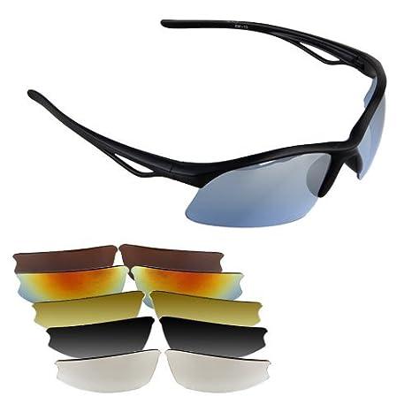 Gafas de Sol para Bici Bicicleta Ciclismo Deporte UV 400+ 6 ...