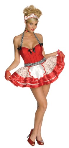 Secret Wishes Sweetheart Costume, Red/White/Black,