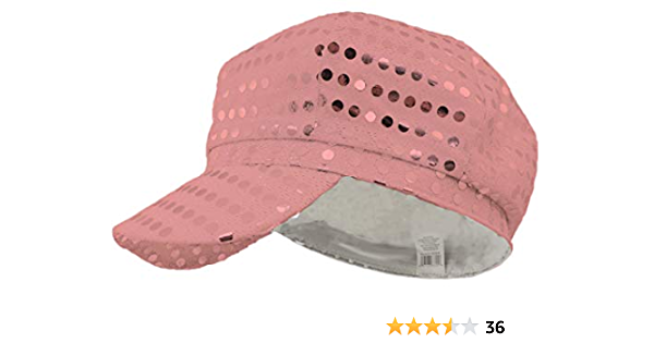 Sequin LED Newsboy Cap Pink