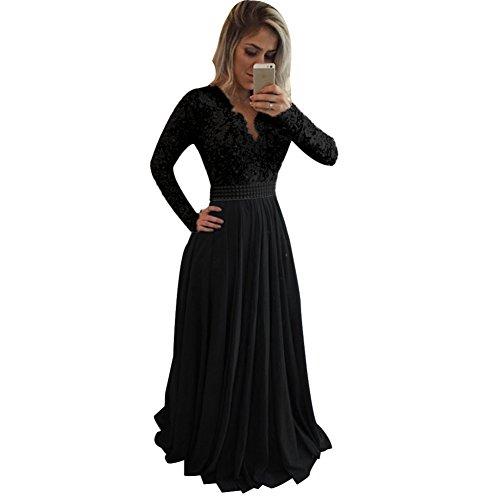 all lace dress black - 8