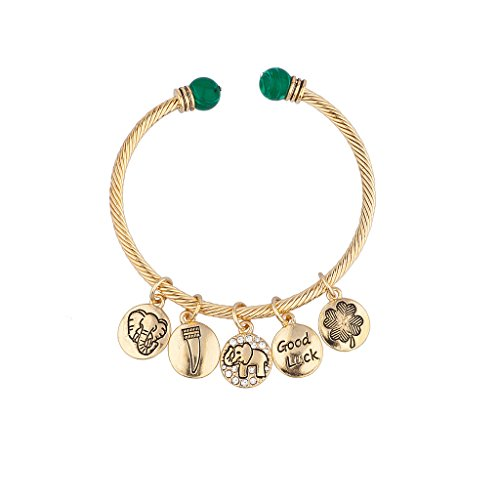 Lux Accessories Good Luck Charm Bangle Bracelet ()