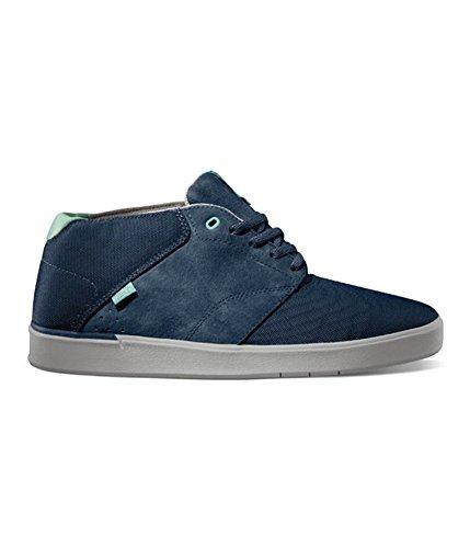 Vans Mens Lxvi Secant Mid Top Sneakers Da Skate Navy Verde Acqua