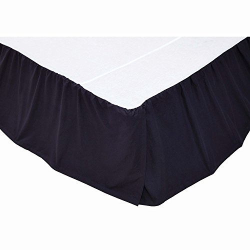 - VHC Brands 15543 Solid Navy King Bed skirt 78x80x16