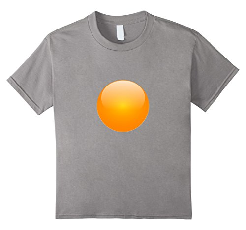 [Kids Sunny Side up Egg Costume T-Shirt Funny Egg Yolk Shirt 10 Slate] (Hilarious Costumes Ideas)