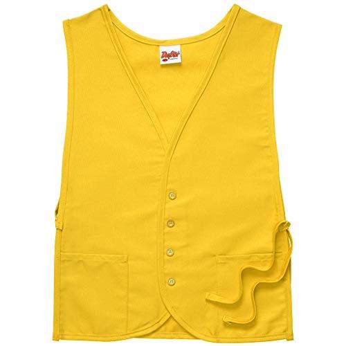 Smock Housekeeping (DayStar Apparel 430 Two Pocket Vested Cobbler Apron, Yellow, Regular)