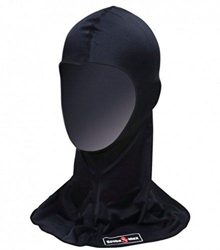 UV50 Lycra Hood for Warm Water Scuba Diving - Black (Womens Diving Hood)