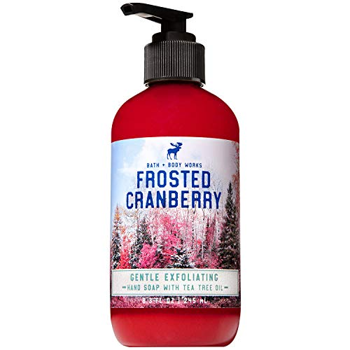 Bath and Body Works FROSTED CRANBERRY Gentle Exfoliating Hand Soap 8.3 Fluid Ounce