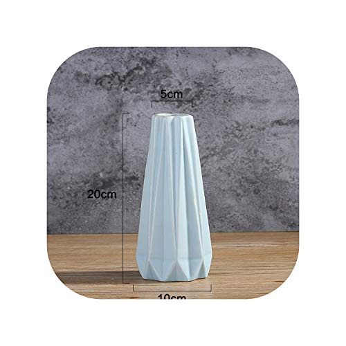 Simple Modern Ceramic Flower Vase Small Fresh White Living Room Table Flower Arranging Creative Decorations Ornaments,A ()