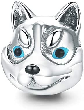 Poodle Design Sterling 925 Silver Cute Dog Charms Bead Fit European Bracelet Diy