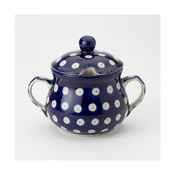 Polish Pottery Sugar Bowl – Blue Eyes