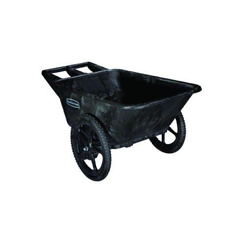 - Rubbermaid 5642BLA Big Wheel Agriculture Cart, 300-lb Cap, 32-3/4 x 58 x 28-1/4, Black