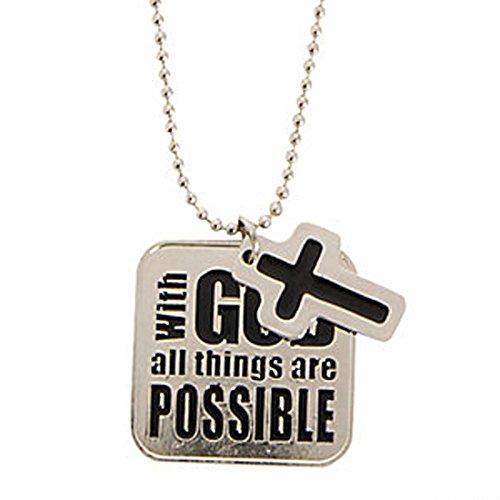 FE OTC Metal Pewter Religious Necklace