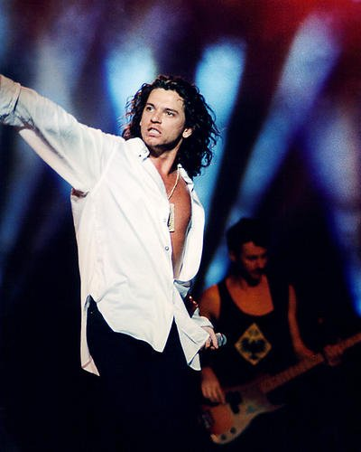 Inxs 11x14 Promotional Photograph Michael Hutchence in concert