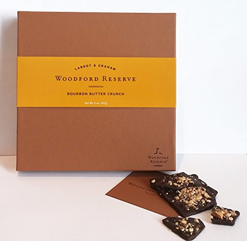 Woodford Reserve Premium Bourbon Butter Crunch Gift Box, 16 Candies per box, delicious and perfect for holiday gifts