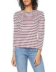 Armor Lux 04277, vrouwen gestreept T-shirt met lange mouwen