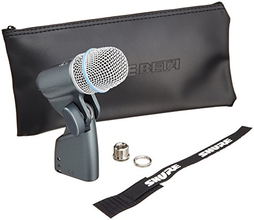 Shure BETA 56A Supercardioid Swivel-Mount Dynamic Microphone with High Output Neodymium Element for Vocal/Instrument Applications Neodymium Vocal Mic