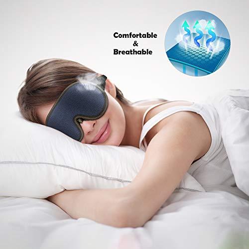 Sleep Mask Men&Women,Sleeping mask,Eye Mask for Sleeping Women&Men,New Upgraded 3D Contoured, Super Soft Breathable with Adjustable Strap Complete Blackout Eye Shades Blindfold for Darkness(Hohiyo)