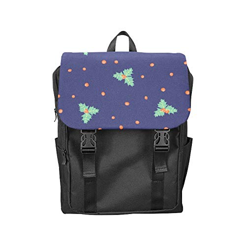 Fashion Flip Cover Notebook Poinsettia Hand-Painted Flowers Print Laptop Backpack Travel Men Women Business Computer Backpack Oxford Fabric Vintage School Shoulder Bag
