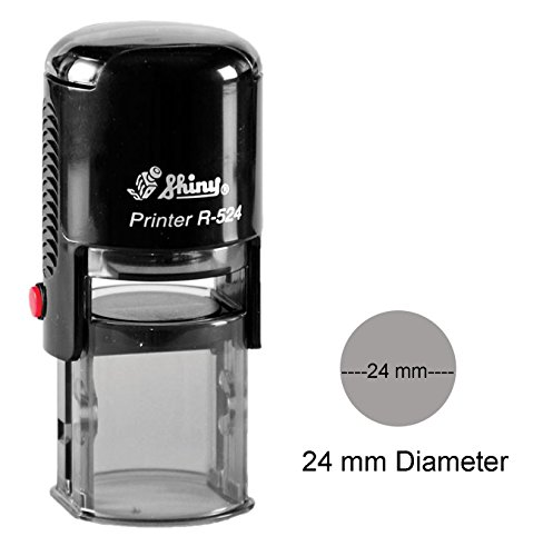 Shiny Self Inking Rubber Stamp Custom Round Logo Stamper Personalized 24mm/2.4cm