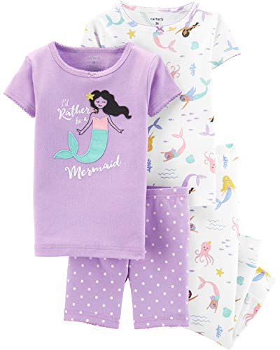Carter's Toddler Girls 4-pc. Rather Be A Mermaid Pajama Set 5T Purple Multi