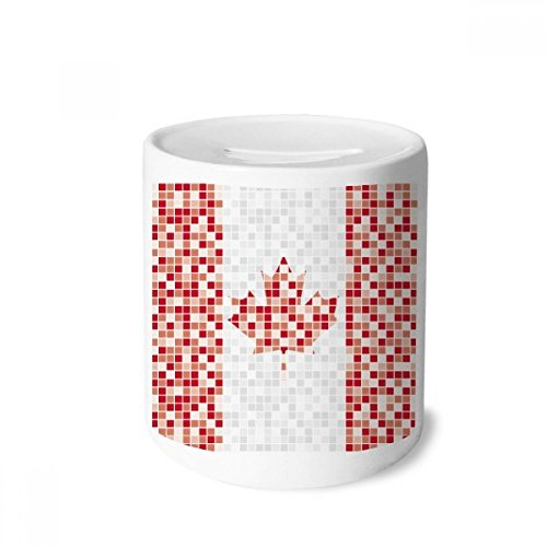 - DIYthinker Canada National Flag Maple Leaf Mosaic Money Box Saving Banks Ceramic Coin Case Kids Adults