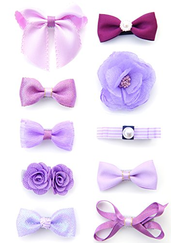 Belle Beau Baby Girls Hair Bows, Hair Clips, Ribbon Lined Alligator Hair Clips (Z-Dix-G)
