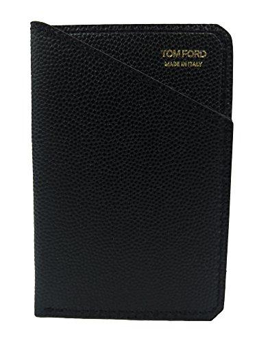 Tom Ford Black Leather Slim Card - For Wallets Tom Ford Men