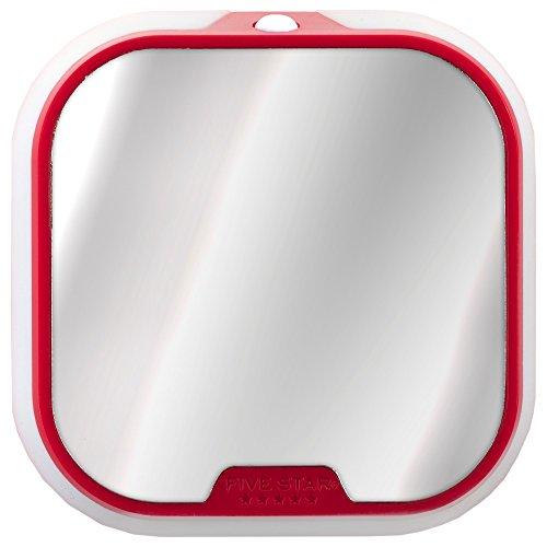 Five Star Locker Mirror and Locker Light, Locker Accessories, Red, 4.5 in. x 4.5 in. x .88 in. (73591)
