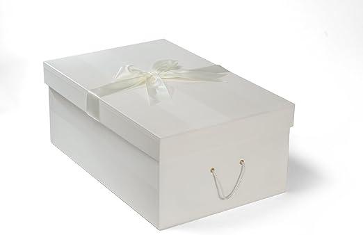 Caja para Vestido de Novia Grande 50 x 75 x 30 cm (profundidad), CHELSEA IVORY: Amazon.es: Hogar