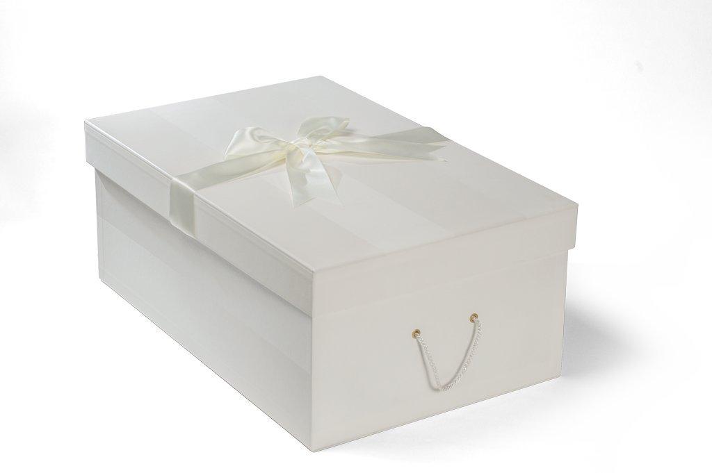Die extragroße Brautkleidbox, 75cm x 50cm x 30cm, \'CHELSEA IVORY\'